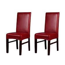 US $13.4 35% OFF|2pcs Stretchable Dining Chair Covers Waterproof Oilproof  Ceremony Back Seat Chair Slipcovers Protectors One Piece PU Leather-in  Chair ... Cotton Slip Cover For Echo Ding Chair Oatmeal Box Cushion Slipcover Reviews Joss Main How To Make A Custom Hgtv Trendy Slipcover Removable Fniture Chairs Inspirational Delightful Easy Room Covers House Home Diy 9 Steps With Pictures Sew Or Staple Craft Buds Arm Slipcovers Less Than 30 Howtos Easygoing Stretch Parsons Protector Soft Washable M4 Pieces Square Chocolate