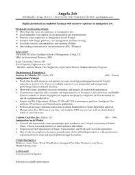 Paralegal Resume Resumes Examples Ravishing Family Lawon Ip For