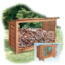 the perfect woodshed for the side of my house woodworking