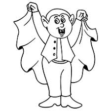 Mr Vampire On Halloween Show Coloring Page