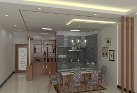 Partition Design For Living Room And Dining Hall Interior Kitchen Small Home