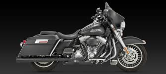 power duals headers black for 2010 newer harley touring 46849 by
