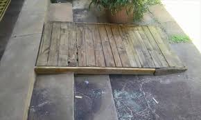 How To Build A Wooden Shed Ramp by Wood Pallet Ramp For Entryway Stair