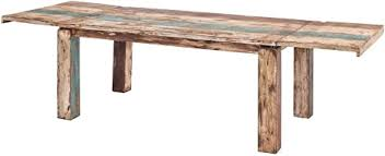 möbel ideal esstisch vintage stil shabby chic massiv esszimmertisch tisch 140 190 240 x 90 landhausstil massivholz holz mango massiv mit
