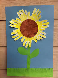Sunflower Hand Print I Made With Our Preschoolers
