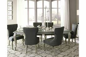 Dining Room Chair Covers Set Of 6 Lighting Brushed Nickel Sets With Hutch Ext Table Or