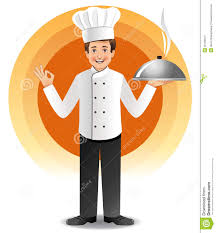 chef de cuisine chef with steaming cuisine stock vector illustration of