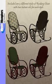 100 Rocking Chair Wheelchair Antique S 3D Models Keppel