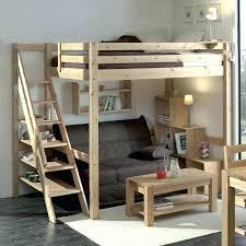 lit mezzanine avec canapé convertible fixé canape convertible en lit superpose lit mezzanine avec canape retour