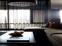 Blackout Curtain Liners Ikea by Black Sheer Curtains On Transparent Glass Window Plus Rectangular