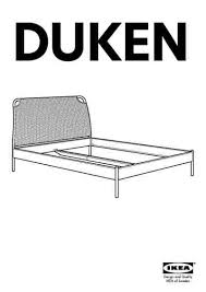 ikea duken bed frame furniture download user guide for free