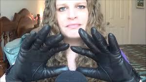 asmr leather gloves sounds soft spoken youtube
