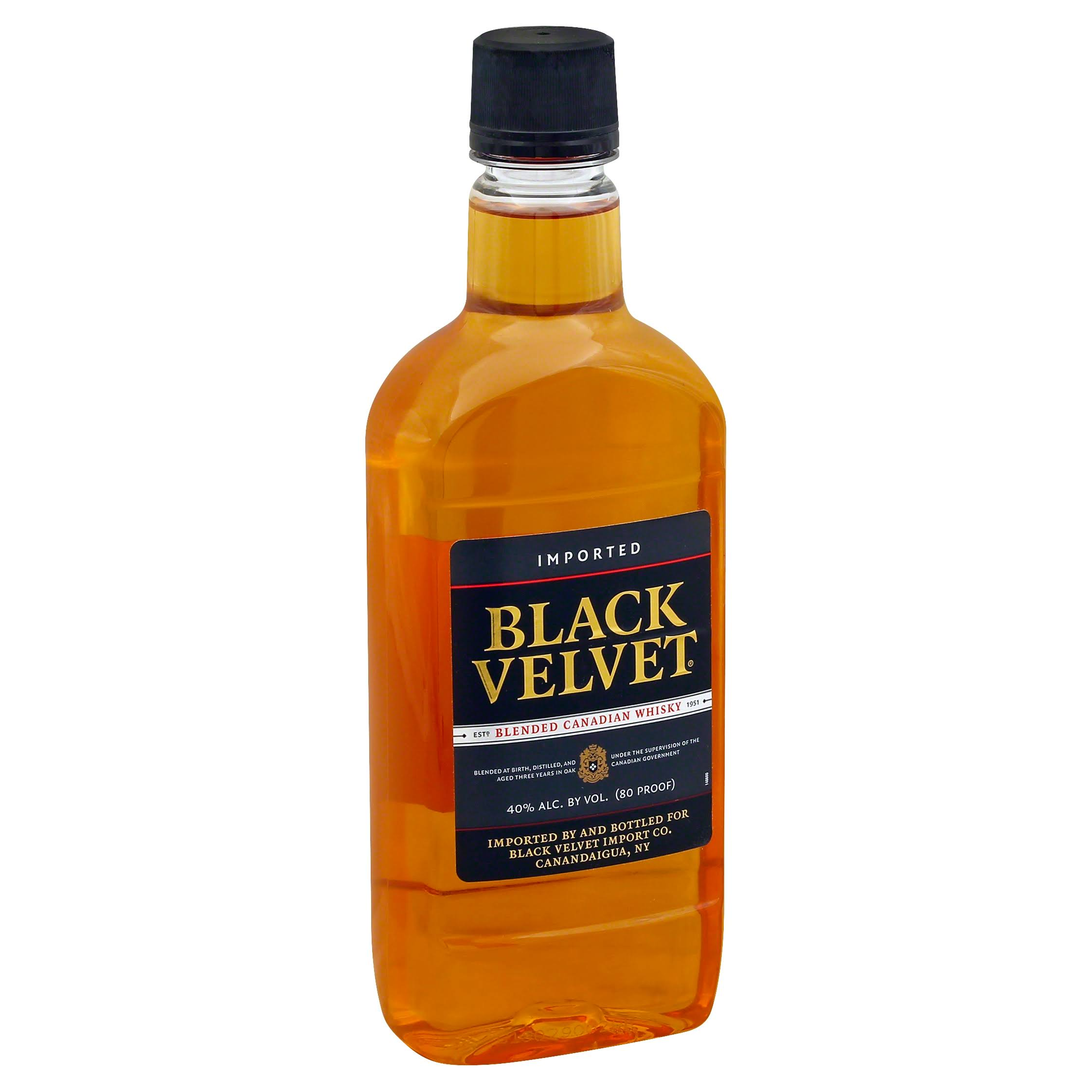 Black Velvet Imported Canadian Whisky