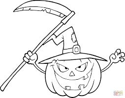 Halloween Pumpkin With Scythe
