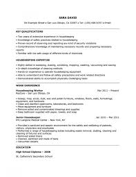 Housekeeper Resume Sample Key Qualifications Amp Housekeeping Within