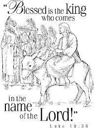 Palm Sunday Coloring Page This Will Help You Prepare Your School Lesson On Matthew