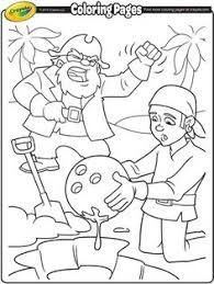 X Marks The Spot Check Out This Printable Coloring Page Of Pirates Digging Up Their