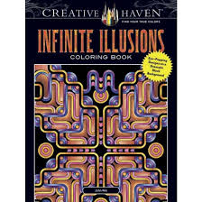Infinite Illusions Coloring Book Eye Popping Designs On A Dramatic Black Background Paperback John