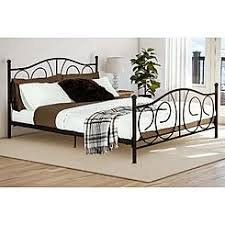 Metal Bed Full by Beds Sears