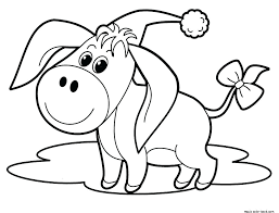 Animal Christmas Coloring Pages Cute Free