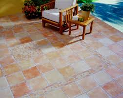 floors vintagetan outdoor marble tile floor design with mosaic