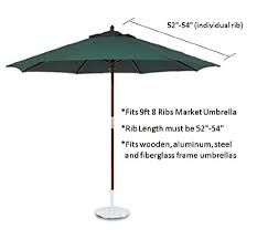 amazon com 9ft market umbrella replacement canopy 8 ribs taupe