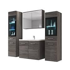 badmöbel set udine ii mit waschbecken und siphon modernes badezimmer komplett spiegelschrank waschtisch hochschrank möbel ohne beleuchtung