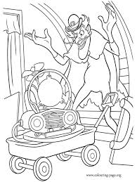 Bowler Hat Guy With The Memory Scanner Coloring Page