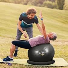 Physio Ball Chair Base by Amazon Com Exercise Ball Chair 65cm U0026 75cm Yoga Fitness Pilates