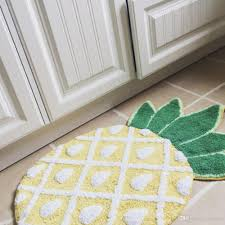 großhandel ins nordischen stil zu hause schöne ananas matte bett teppich badezimmer bodenmatte heimtextilien vestibule türmatte rutschfest