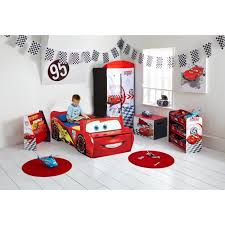 chambre cars enfant avec lit banc coffre à jouets achat vente