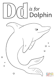 Click The Letter D Is For Dolphin Coloring Pages To View Printable