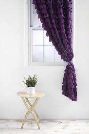 Lush Decor Velvet Curtains by Lush Decor Serena Ruffle Trim Shower Curtain By Wide Ruffled