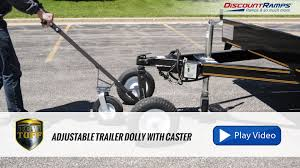 100 Truck Camper Dolly Tow Tuff Adjustable Trailer With Caster YouTube
