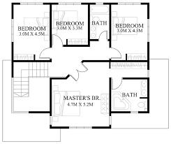 Second Floor House Design by Modern House Design Series Mhd 2012006 Eplans