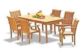 Teak Dining Set: 6 Seater 7 Pc: 71