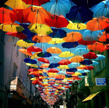 Colorful Canopies Of Umbrellas By Sextafeira Produces