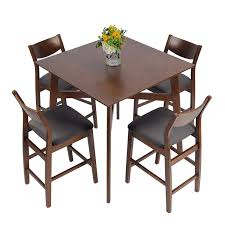 Amazon.com - LUCKYERMORE 5 Piece Counter Height Dining Table ...