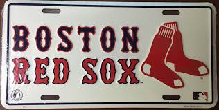 100 Truck License BOSTON RED SOX CAR TRUCK TAG LICENSE PLATE BOSTON RED SOX METAL SIGN