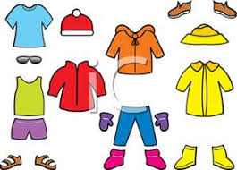 Cartoon Summer Clothes Clipart Playing Dress Up