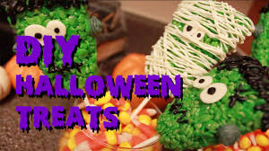 Rice Krispie Treats Halloween Theme by Diy Halloween Treats Rice Krispies Youtube