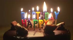 Happy Birthday Candles on Birthday Cake