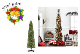 Michaels Pre Lit 7 Foot Pencil Artificial Christmas Tree