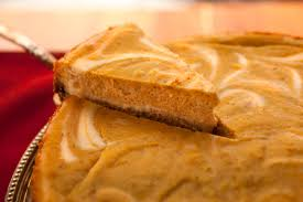 Gingersnap Pumpkin Pie Cheesecake by Pumpkin Swirl Cheesecake Recipe Chowhound