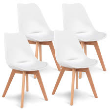 Amazon.com - Casart 4 PCS Mid Century Dining Chairs Modern ... Appealing Modern White Ding Chairs Home Furnishings Kit Modern Upholstered Ding Chairs With Arms Crazymbaclub Mid Century Upholstered Chair Avalonitnet Audrey Dark Grey Details About New Set Of 2 Elegant Design Fabric Accent L848 China Colorful Coffee Table Gold Wedding Garden Outstanding Small Room With Rectangle Modrest Legend Black Danish Teak Rope Cord Post Concorde By Torstein Flaty Norway 1980s Of 4 For Walmartcom