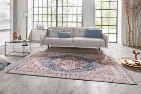 teppich casablanca 230x160cm rot blau riess ambiente rechteckig vintage florales perser muster wohnzimmer kaufen otto
