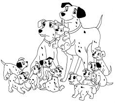 Dalmatians Family Coloring Page