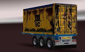 SCHMITZ 20FT OPENTOP CONTAINER UPDATE V1.1 For ETS2 -Euro Truck ...