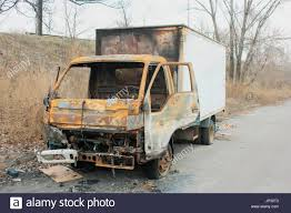 100 Burnt Truck Small Burnt Truck Abandoned Along The Road Stock Photo 151271907