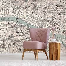 Vintage Paris Map Wall Mural By La Feature